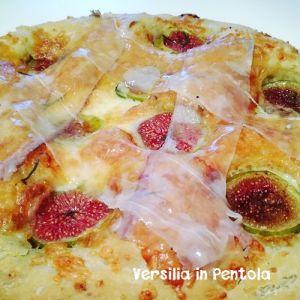 Pizza Bianca con Lardo di Colonnata e Fichi